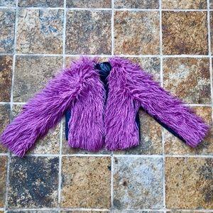 Designer Pink Shag Coat